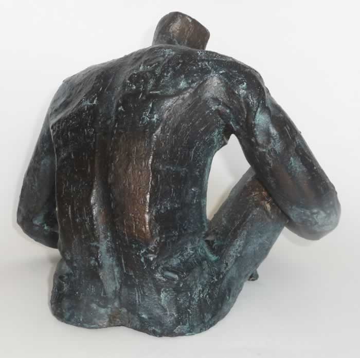 Fired ceramic, painted bronze, patina, wax - H 23 x W 32 x D 28 cm